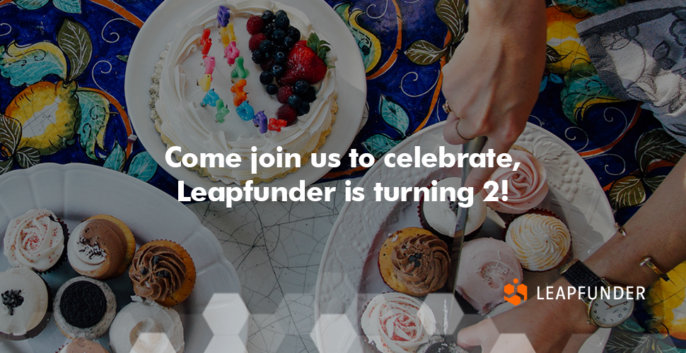 Come join us to celebrate, Leapfunder is turning 2