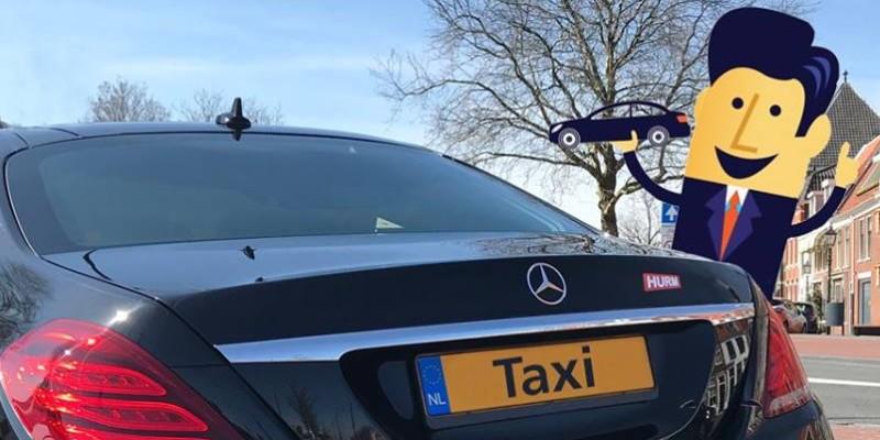 A mercedes taxi