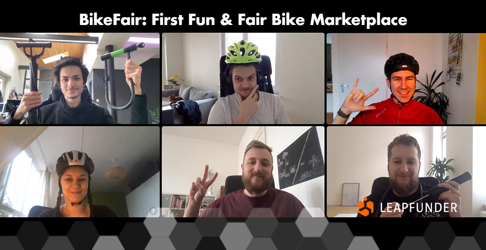 A group of bike enthusiasts having an online meeting